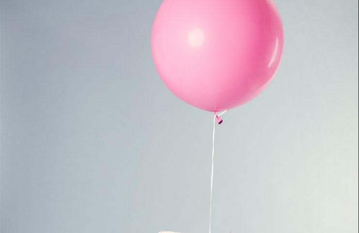 Ružový balónik
